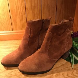 J CREW Medium Brown Suede Ankle Boots